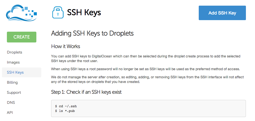 DO SSH Key