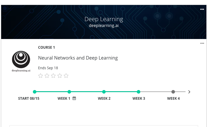 Coursera Deeep Learning Course by Andrew Ng