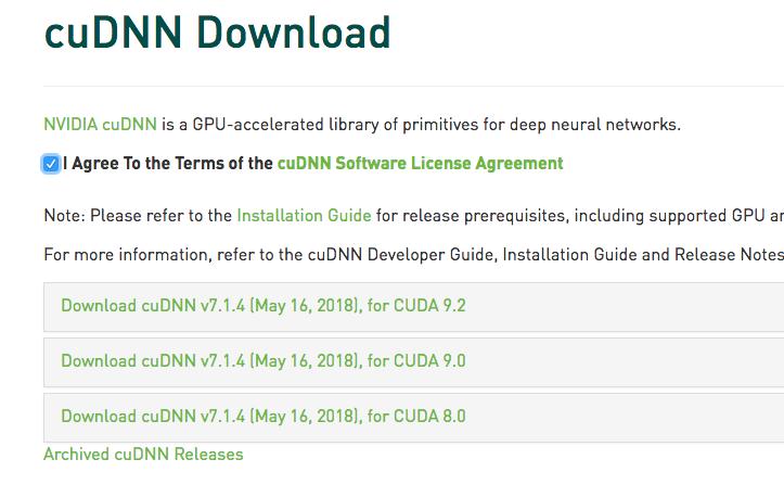 cudnn7.1.4 cuda9.2 ubuntu16.04