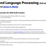 《自然语言处理综论(Speech and Language Processing)》第三版终于在2020年年底更新了